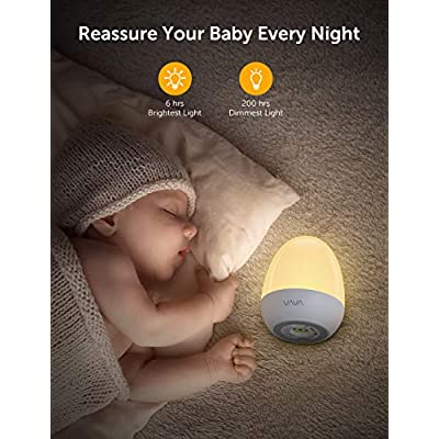 VA-CL006-Night-Lights-for-Kids-with-Stable-Charging-Pad,-ABS+PC-Bedside-Lamp-for-Breastfeeding,-Touch-Control&Timer-Setting,-White