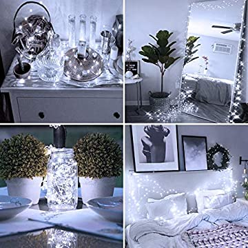 16-Pack-Fairy-Lights-Battery-Operated,-IP68-Waterproof-Mini-Firefly-String-Light,-2m-7ft-Sliver-Wire-Micro-LED-Ferry-Starry-Light-for-Indoor-Decor-Wedding-Party-DIY-Bedroom-Tree-Gift-Cool-White