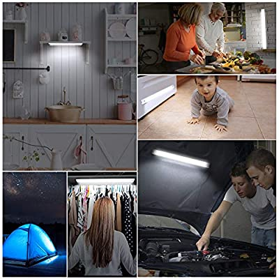 LED-Closet-Light,-Newest-78-LED-Motion-Sensor-Dimmable-Under-Cabinet-Light-with-Rechargeable-Battey-3200mAh-Wireless-Night-Light-Bar-Safe-Lights-for-Wardrobe-Stairs-Bedroom-Hallway-(2-Sensor-Modes)