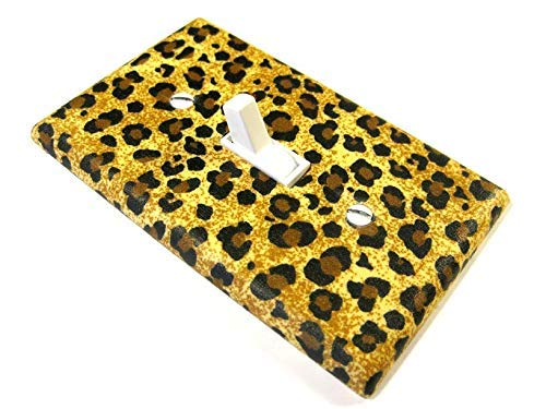 Brown-Cheetah-Print-Light-Switch-Cover-Plate-Girls-Bedroom-Decor