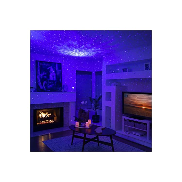 Sky-Lite-Blue---Laser-Projector-w/LED-Nebula-Cloud-for-Game-Rooms,-Home-Theatre,-or-Night-Light-Ambiance---Cobalt-(Blue/Blue)