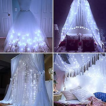 300-LED-Fairy-Curtain-Window-String-Lights,-Indoor-String-Lights-10-Ft-with-8-Modes-Fits-Remote-and-Timer-for-Bedroom-Wedding-Party-Patio-and-Christmas-Decoration-(Cold-White)
