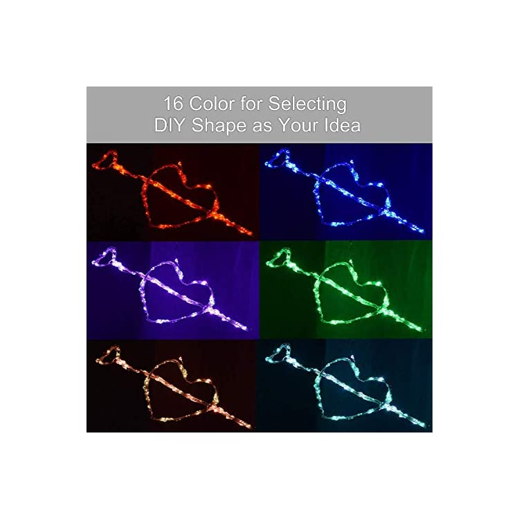 16-Colors-Changing-Fairy-Lights,-USB-Copper-Wire-100LED-Remote-String-Lights-for-Indoor,-Oudoor,-Room,-Party,-Christmas-Decor