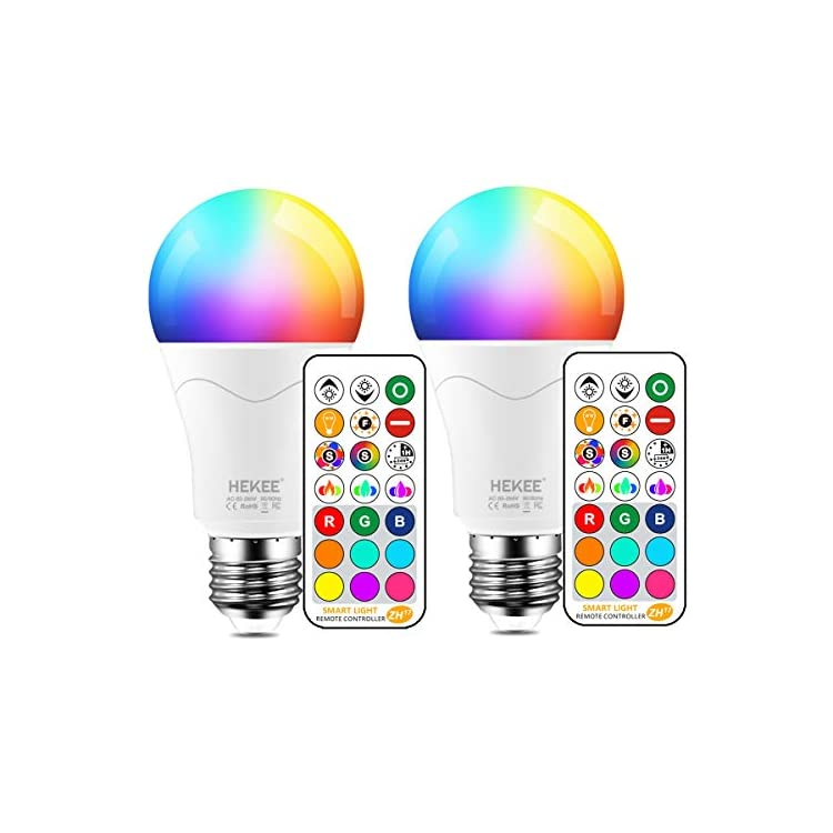 LED-Light-Bulb-85W-Equivalent,-Color-Changing-Light-Bulbs-with-Remote-Control-RGB-6-Modes,-Timing,-Sync,-Dimmable-E26-Screw-Base-(2-Pack)