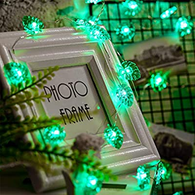 Green-String-Lights,10ft-40-LEDs-Green-Palm-Leaves-Fairy-Light,-Battery-Powered-with-12-Modes,-Remote-and-Timer-Function-for-St.-Patricks-Summer-Party-Wedding-Decoration