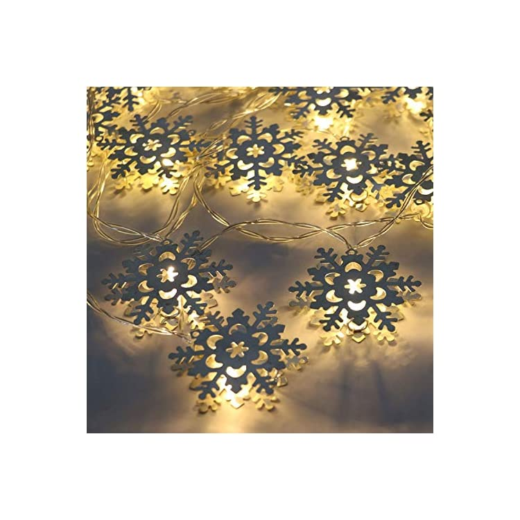 20-LEDs-Silver-Snowflake-Battery-Operated-Indoor-Fairy-String-Lights-with-Timer-Function-for-Christmas-Party-Event-Decoration---10.2FT