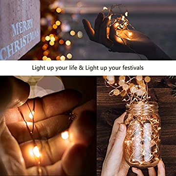 12-Pack-Fairy-String-Lights-2M-Warm-White-Led-Starry-String-Lights-Battery-Operated-Copper-Wire-for-DIY-Decoration-Christmas-Patio-Wedding-Party-(Warm-White)