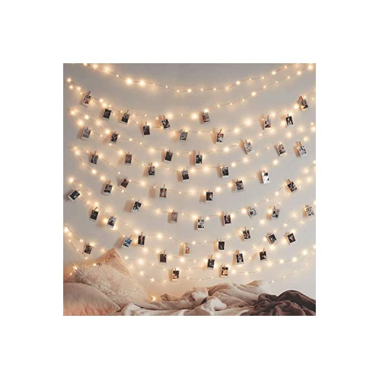 200-LED-66ft-Fairy-Copper-String-Lights-USB-&-Adapter-Powered,-Dimmable-Control-Starry-String-Lights-Home-Lighting-Indoor-Outdoor-Bedroom-Wedding-Christmas-Party-Decoration,-Warm-White
