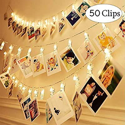 LED-Photo-Clip-String-Lights-Home-Decor-Indoor/Outdoor,-Fairy-Lights-with-Clips-Battery-Powered-for-Bedroom,-Hanging-Photos-Pictures,-Christmas-Tree,-Fesitaval-Party,-Warm-Light-(50-Clips)
