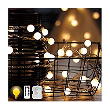 Led-Globe-String-Lights-Battery-Operated-Christmas-Lights-Waterproof-Fairy-String-Lights-for-Home-Garden-Wedding,-8-Mode-Warm-White-20ft-40-LEDs,-2Pack