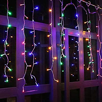 LED-Icicle-Lights,-16.5ft-216-LED-Fairy-String-Lights-Plug-in-Extendable-Curtain-Christmas-String-Lights-8-Modes-Decorative-Rope-String-Xmas-Wave-Twinkle-Light-(5M-216LED,-Multi-Color)