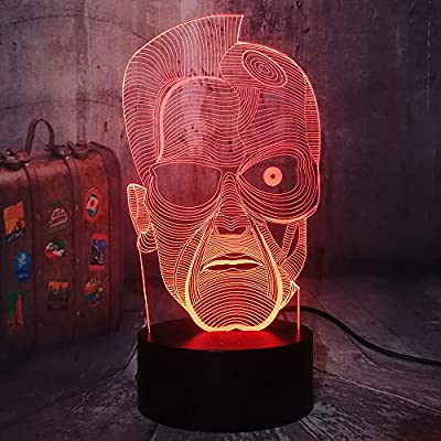 The-Terminator-3D-LED-Night-Light-Home-Decor-Kids-Remote-Control-Desk-Lamp-Holiday-Decoration-Light-Fans-Gift-Birthday-New-Year-Present(Terminator)