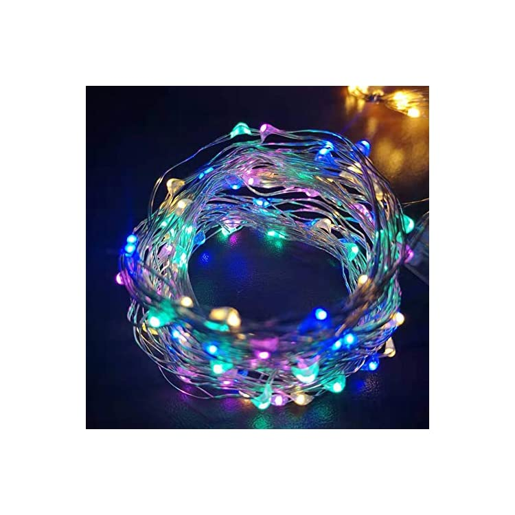 [4-Pack]-20Ft-60LEDs-String-Lights,Battery-Operated-Starry-Fairy-Lights-for-Indoor-Outdoor-Bedroom-Holiday-Wedding-Halloween-Christmas-Party-Decoration-(Multi-Colored)
