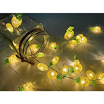 40-LED-Pineapple-Fairy-String-Lights-Waterproof-Battery-Operated-8-Modes-with-Remote-Control-for-Wedding,-Party,-Festival,-Indoor,-Outdoor-(Pineapple)
