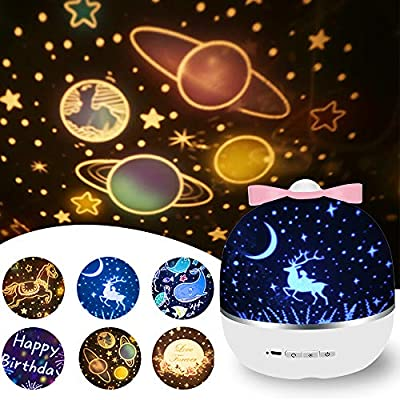 Rechargeable-Star-Night-Light-Projector,-6-Projector-Films-Night-Projector,-360-Degree-Rotation-Projector-Light,-8-Colorful-Modes-with-USB-Cable-for-Baby-Nursery,-Kid-Room-Decor