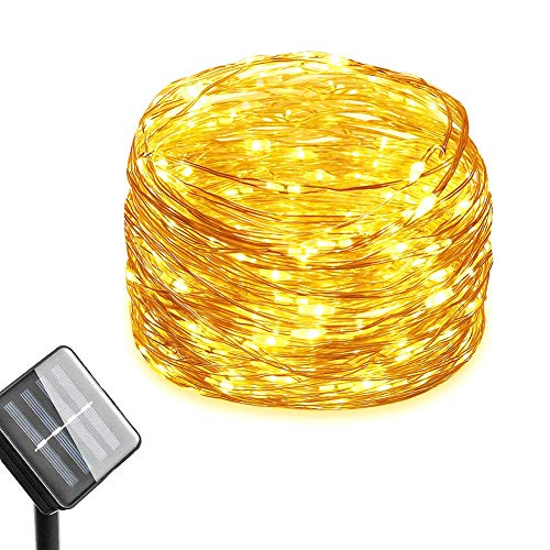 Solar-String-Lights-100-LED-Waterproof-Copper-Wire-Lights-Solar-Powered-Indoor/Outdoor-Starry-Decoration-Lights-for-Patio,-Garden,-Home,-Party,-Wedding,-Festival,-Christmas(Warm-White)