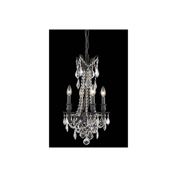 Rosalia-Collection-9204D13DB/RC-4-Light-Hanging-Fixture-with-Royal-Cut-Crystals,-Dark-Bronze-Finish