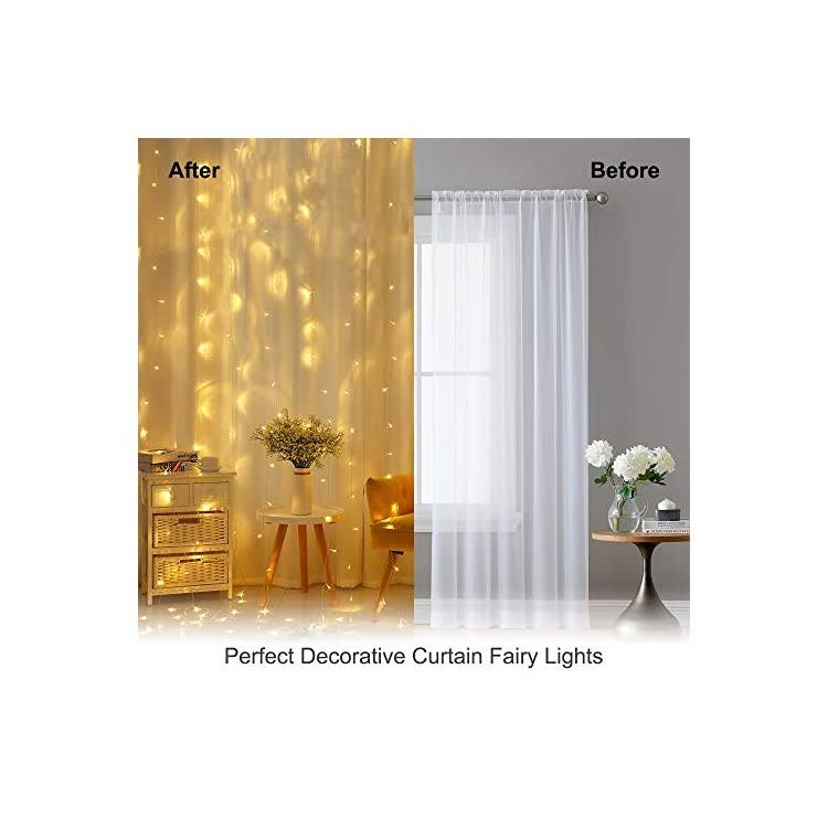 306-LED-Curtain-String-Lights-8-Modes-Christmas-Fairy-Lights-Hanging-Plug-in-for-Bedroom-Wedding-Party-Backdrop-Wall-Decorations-(Warm-White)