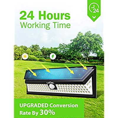 Enhanced-102-LED-Super-Bright-Solar-Lights-Outdoor,-Solar-Motion-Sensor-Lights-with-270°Wide-Angle,-IP65-Waterproof,-Easy-to-install-Security-Lights-for-Front-Door,-Yard,-Garage,-Deck(2-Pack)