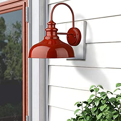 Zeyu-Gooseneck-Barn-Light,-11'-Farmhouse-Wall-Light-in-Red-Finish,-02A390-RED