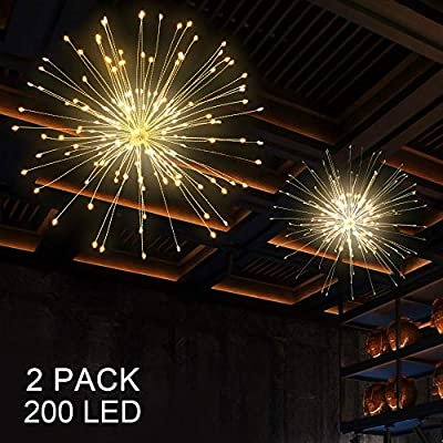 2pack-Hanging-String-Lights,-200-LED-Hanging-Lights,-8-Mode-Dimmable-Firework-Lights-with-Remote,-Waterproof-Hanging-Twinkle-Lights-for-Ceiling,-Party-Decor,-Outdoor-Dinner