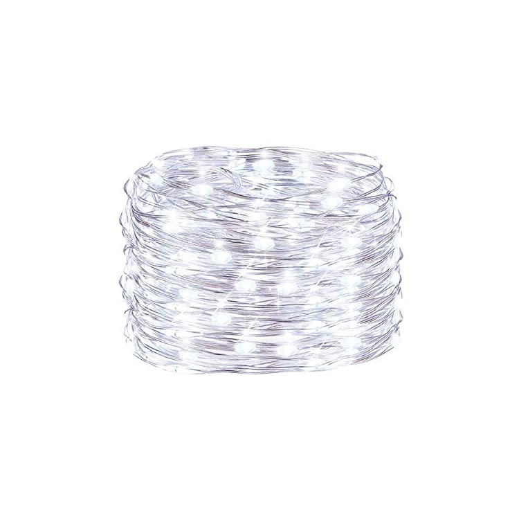 2-Pack-8-Modes-32.8ft-100-LED-Plug-in-4.5V-Transformer-Safe-Voltage-Waterproof-Fairy-String-Copper-Wire-Lights-for-Indoor-Christmas,-Bedroom,-Patio,-Wedding,-Party-(White-100LED-2Pack)