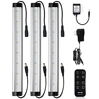 Under-Cabinet-LED-Light-Bar-Kits-Remote-Control---Dimmable-12-inch-Light-Bars-Daylight-White-5000K,-900-Lumen-for-Kitchen-Counters-Bookcases,-3-Kit