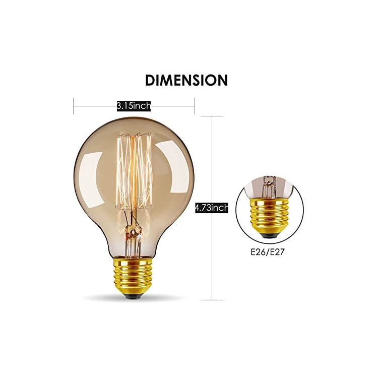 Vintage-Edison-Bulbs-40W/110V-E26-E27-Base-Dimmable-Incandescent-Bulb-for-Home-Decoration-(4-Pack)-(Round-Antique)
