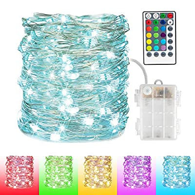 Twinkle-Fairy-Christmas-Lights-33Ft-100-LEDs-Color-Changing-Firefly-LED-String-Lights-with-Remote-&-Battery-Operated-for-Indoor-Bedroom-Wedding-Christmas-Decoration,-Multicolor-16-Colors