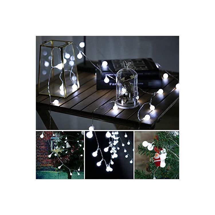 LED-Globe-String-Lights-Twinkle-Lights,Plug-in-Fairy-Lights,49Ft-100-LED-String-Light,-Waterproof,-Perfect-for-Indoor-Outdoor-Wedding-Birthday-Party-with-30V-Safe-Plug,Extendable(Cool-White)
