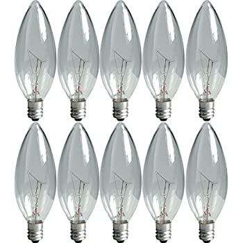 Crystal-Clear-75033-40-Watt,-280-Lumen-Blunt-Tip-Light-Bulb-with-Candelabra-Base,-10-Pack