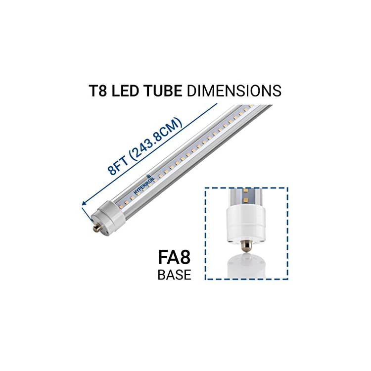T8-T10-T12-8-Foot,-75-Watt-(36W)-Clear,-LED-Light-Tube,-5000K,-Ballast