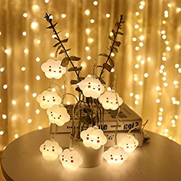 Indoor-String-Lights,-Battery-Powered-Fairy-String-Lights-Waterproof,-20-LED-Cute-Decoration-Extendable-for-Indoor,-Outdoor,-Kids-Bedroom,-Christmas-Tree,-New-Year,-Garden-Decoration,-Warm-White