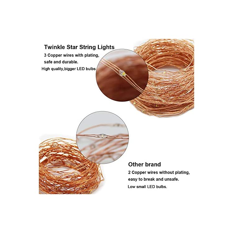 200-LED-66ft-Fairy-Copper-String-Lights-USB-and-Adapter-Powered-with-9-Modes-&-Timer,-Home-Lighting-Decor-for-Indoor-Outdoor-Bedroom-Wall-Patio,-White