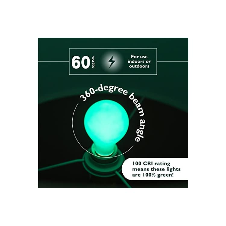 Christmas-Light-Bulbs---60-Watt-Red-and-Green-Light-Bulbs---Dimmable---E26-Base---by-(60-Watt-A19,-2-Pack)