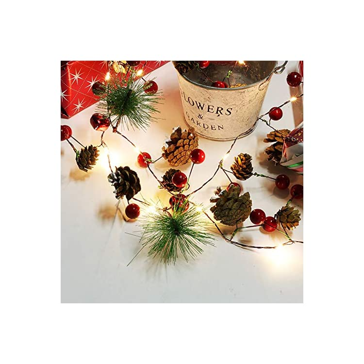 Christmas-String-Light-Creative-Pinecone-Bell-Berries-Decor-Fairy-String-Light-20-LEDs-String-Light-6.56ft.