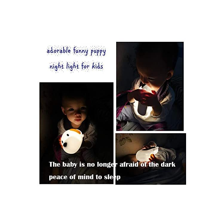 LED-Kids-Night-Light,-Cute-Puppy/Cat/Elk-Soft-Silicone-Baby-Nursery-La
