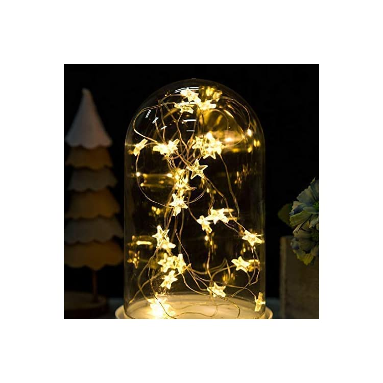 Onemore-Small-Star-Fairy-String-Lights,-10FT-30-LEDs-Christmas-Decorations-Battery-Powered-Indoor-Outdoor-Lights-for-Girls-Bedroom,-Fence,-Princess-Castle-Play-Tents,-All-Festivals-Fantasy-Decoration