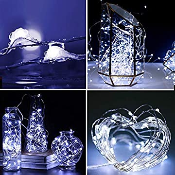 YITING-20-Pack-Led-Fairy-Lights-Battery-Operated,10.2FT-30LEDs-Silver-Wire-Cool-White-Firefly-Lights,Waterproof-LED-Mini-String-Lights-for-Wedding-Party-Mason-Jars-Christmas-Home-Decoration