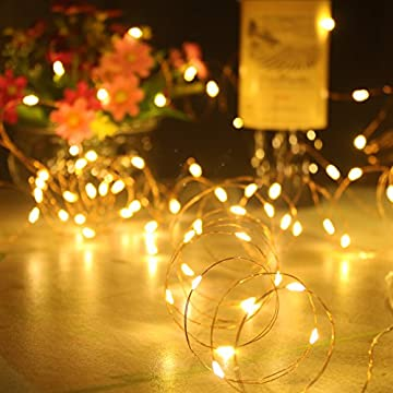 4-Pack-Led-String-Lights,50LED-16.4ft/5m-Copper-Wire-Battery-Operated-String-Lights,Twinkle-Fairy-Decorative-String-Lights-for-Indoor-Bedroom-Home-Christmas-Tree-Party(Warm-White,Set-of-4)