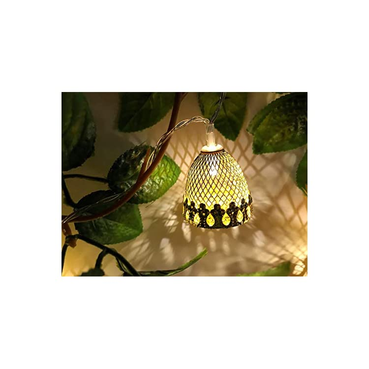 Metal-Mesh-Bell-Fairy-Light,-Pinecone-Acorn-String-Lights,9.5-Ft-20-LEDs,Battery-Powered,for-Indoor,Bedroom,Christmas-ULDSL001P