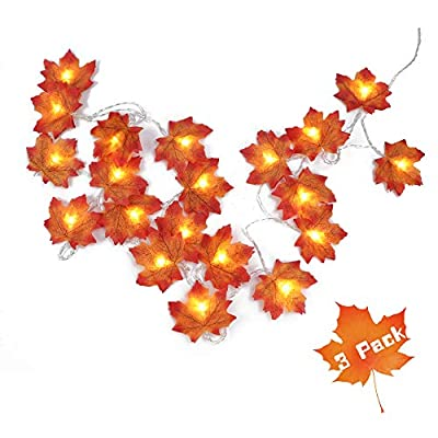 Fall-Decorations-Maple-Leaf-String-Lights,-9.8ft-20LED-Battery-Powered-Harvest-Fall-Garlands-String-Light-for-Indoor-&-Outdoor,-Thanksgiving,-Christmas-(3-Pack)