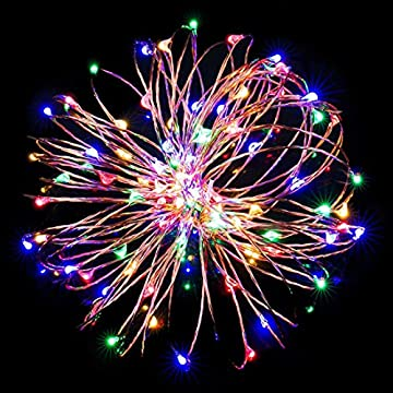 2-Pack-Sound-Activated-Music-String-Lights,32.8ft-100LEDs-12-Modes-Waterproof-Copper-Wire-Multicolor-AA-Battery-Powered-String-Lights-with-Remote-Control-for-Bars,Parties,Christmas,Wedding-Dance.