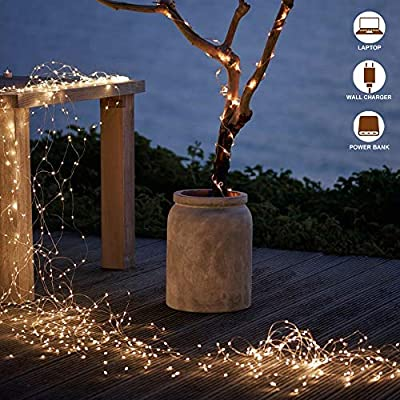 Fairy-String-Light,-120-LED-13.5m-USB-Starry-Fairy-String-Light-Waterproof-Copper-Wire-Lights-for-Indoor,-Bedroom-Festival-Wedding-Party-(Warm-White)