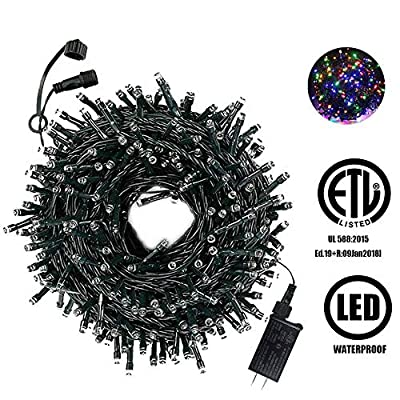 200-Count-Twinkly-Led-String-Lights-With-8-Lighting-Modes,Low-Voltage-Connectable-String-Fairy-Lights-For-Indoor-Outdoor-Christmas-Tree,-party,Wedding,Garden,Holiday(200-LED-46ft,-Multi-colored)
