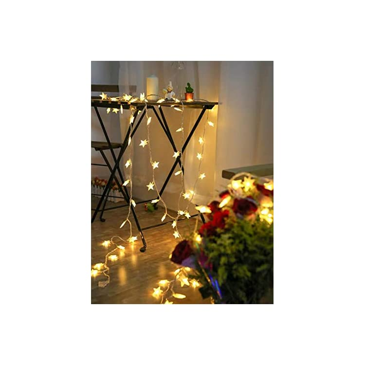 Stars-String-Lights-80LED-Fairy-Light-for-Party-Home-Garden-Bedroom-Outdoor-Indoor-Wall-Decorations,-Battery-Operated-32ft-Waterproof
