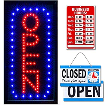 Neon-Open-Sign-for-Business:-Vertical-Lighted-Sign-Open-with-Flashing-