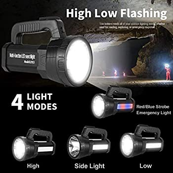 Super-Bright-LED-Handheld-Spotlight-Flashlight-Rechargeable-10000mAh-6