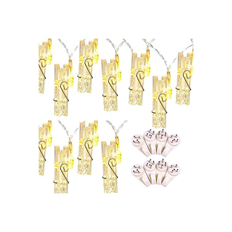 Led-Photo-Clip-String-Lights---20-LEDs-Battery-Operated-Fairy-String-Lights-6.56-Feet,-2-Pack,-Warm-White