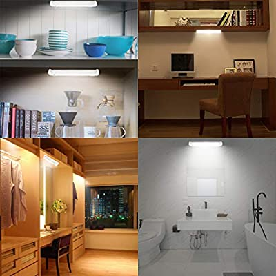 46LED-Bright-Under-Cabinet-Light-Battery-Powered,-Wireless-Led-Shelf-Lighting-with-Remote,-Warm/Cool-White-Under-Counter-Light-Stick-Up-for-Kitchen-Closet-Entrance,-Timer-Off-&-Dimmer
